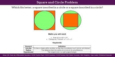 Square and Circle Problem thumbnail