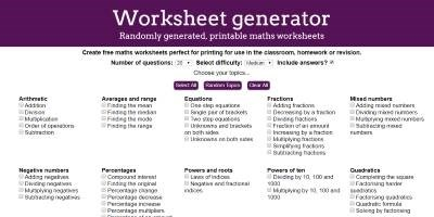 Worksheet generator thumbnail